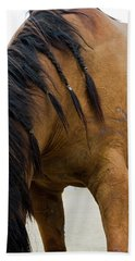 Beach Towel featuring the photograph War Horse by Lorraine Devon Wilke