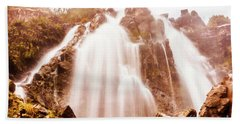 Waratah Wild Waterfall Beach Towel