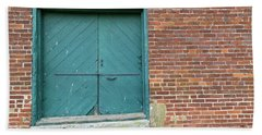 Warehouse Loading Door And Brick Wall Beach Sheet