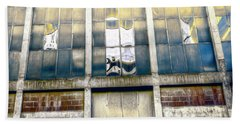 Beach Towel featuring the photograph Warehouse Wall by Wayne Sherriff