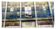 Beach Sheet featuring the photograph Warehouse Wall by Wayne Sherriff