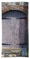 Warehouse Wooden Door Beach Sheet