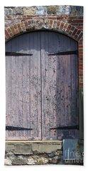 Warehouse Wooden Door Beach Sheet