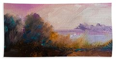 Warm Colorful Landscape Beach Sheet by Michele Carter