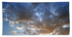 Warm Paso Robles Sky Beach Towel by Michael Rock