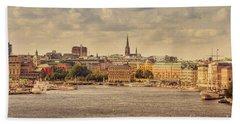 Warm Stockholm View Beach Towel