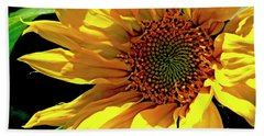 Warm Welcoming Sunflower Beach Towel