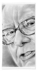 Warren Buffett Beach Towel by Greg Joens