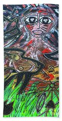 Warrior Spirit Woman Beach Towel