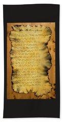 War's Poem Beach Towel