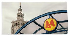 Beach Towel featuring the photograph Warsaw by Chevy Fleet
