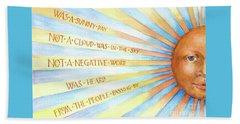 Was A Sunny Day Beach Sheet by Lora Serra