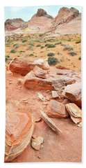 Beach Towel featuring the photograph Wash 4 In Valley Of Fire by Ray Mathis