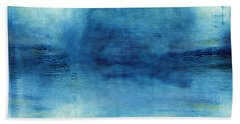 Wash Away- Abstract Art By Linda Woods Beach Towel