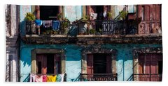 Wash Day On The Prado - Havana Beach Towel