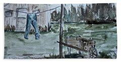 Beach Towel featuring the painting Washed Pants by Jack G Brauer