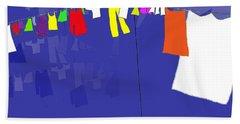 Washing Line Beach Sheet by Barbara Moignard
