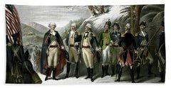 Washington And His Generals  Beach Towel