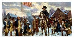 Washington At Valley Forge Beach Towel by War Is Hell Store