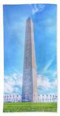 Washington D.c. Monument Landscape Beach Towel