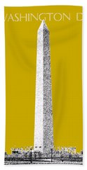 Washington Dc Skyline Washington Monument - Gold Beach Towel