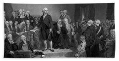 Washington Delivering His Inaugural Address Beach Towel