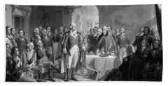 Washington Meeting His Generals Beach Towel