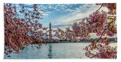 Washington Monument Through Cherry Blossoms Beach Towel