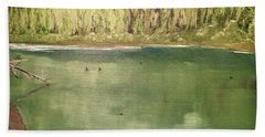 Washington Pine Lake Beach Towel