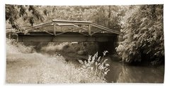 Washington's Crossing Pa - Route 532 Bridge Over The Delaware Ca Beach Towel