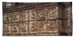 Beach Towel featuring the photograph Wat Jed Yod Frieze Of Angels Or Deities On Maha Vihara Jedyod Dthcm0903 by Gerry Gantt
