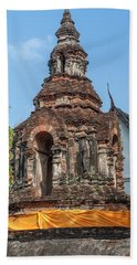 Beach Towel featuring the photograph Wat Jed Yod Phra Chedi Containing Image Of Buddha Dthcm0911 by Gerry Gantt