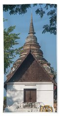 Beach Towel featuring the photograph Wat Jed Yod Phra Ubosot Dthcm0967 by Gerry Gantt