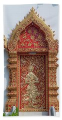 Beach Towel featuring the photograph Wat Jed Yod Phra Wihan Rear Door Dthcm0916 by Gerry Gantt