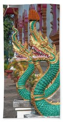 Wat Nam Phueng Phra Wihan Naga Guardians Dthla0007 Beach Sheet
