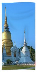 Beach Towel featuring the photograph Wat Suan Dok Buddha Relics Chedi Dthcm0949 by Gerry Gantt