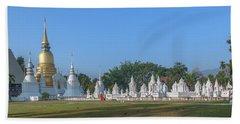 Wat Suan Dok Reliquaries Of Northern Thai Royalty Dthcm0944 Beach Towel