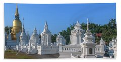 Wat Suan Dok Reliquaries Of Northern Thai Royalty Dthcm0945 Beach Sheet by Gerry Gantt