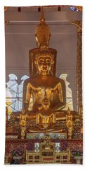 Beach Towel featuring the photograph Wat Suan Dok Wihan Luang Buddha Images Dthcm0952 by Gerry Gantt