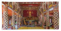 Wat Thung Luang Phra Wihan Interior Dthcm2104 Beach Towel