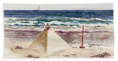 Watch Hill Ri Sand Sculpture Beach Towel