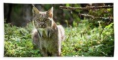 Watchful Mama Lynx Beach Towel