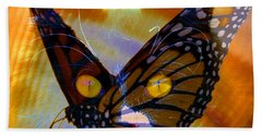 Beach Towel featuring the photograph Watching Butterlies by David Lee Thompson