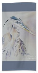 Beach Towel featuring the painting Watching by Mary Haley-Rocks