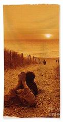 Watching Sun Set Beach Sheet