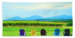 Watching The Grapes Grow Beach Towel