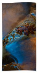 Beach Towel featuring the photograph Water A Leaf by Dustin LeFevre