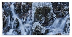 Beach Towel featuring the photograph Water And Ice by Hans Franchesco
