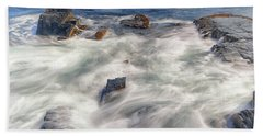 Water And Rocks Beach Towel