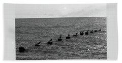 Water Birds Beach Towel